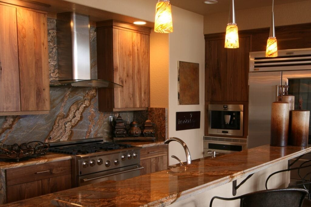 kitchen granite backsplash